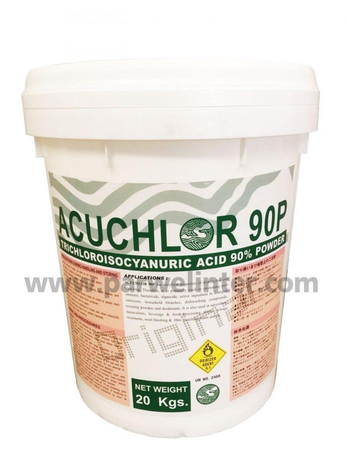 คลอรีนผง Acuchlor 90P powder 20kg 20 กิโลกรัม